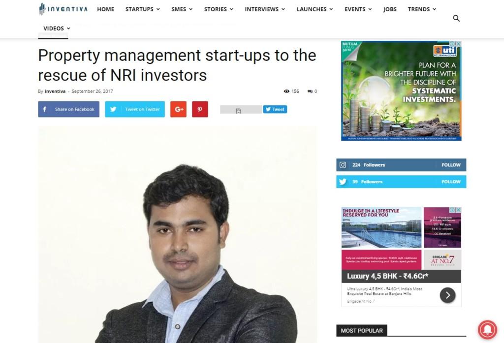 Nagaraj.M CEO Rentprop4u