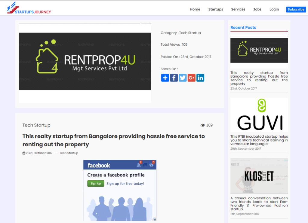 CEO Rentprop4u Nagaraj.M